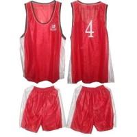 Баскетболен комплект в червено и бяло 10 броя СПОРТНИ СТОКИ