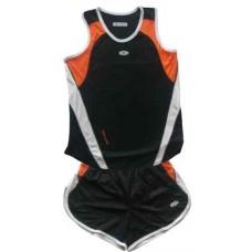 Детски баскетболен екип в черно, оранжево и бяло Бадминтон, федербал