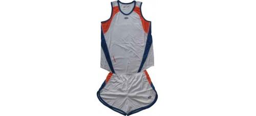 Детски баскетболен екип в бяло, синьо и оранжево СПОРТНИ СТОКИ