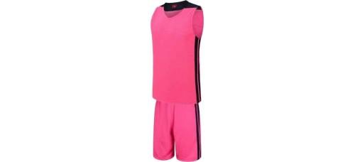 Баскетболен екип, потник с шорти в неоново розов и черно СПОРТНИ СТОКИ