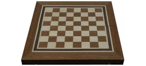 Шах и табла с махагонов фурнир за ценители 34см. ШАХ И ТАБЛА