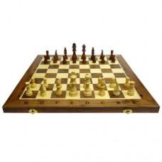 Дървен шах и табла 39 см. с фигури 3.5-8 см. ШАХ И ТАБЛА
