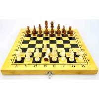 Бамбуков шах и табла,  34 см с фигури 3 - 6.7 см. ШАХ И ТАБЛА