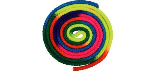 Многоцветно въже за художествена гимнастика 3 метра СПОРТНИ СТОКИ