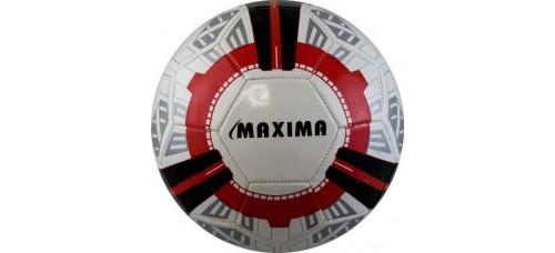 Футболна топка ПВЦ в бяло,червено и черно №5 СПОРТНИ СТОКИ
