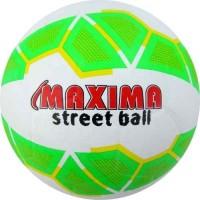 Гумена футболна топка №5 в бяло и зелено СПОРТНИ СТОКИ