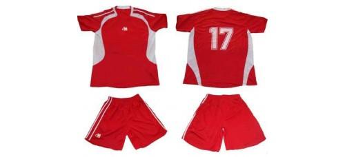 Футболен екип 16 броя в комплект червено и бяло СПОРТНИ СТОКИ