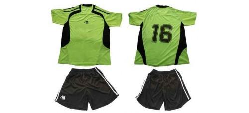 Футболен екип 16 броя в комплект електриковозелено и черно СПОРТНИ СТОКИ