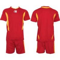 Футболен екип фланелка и шорти в червено и жълто СПОРТНИ СТОКИ