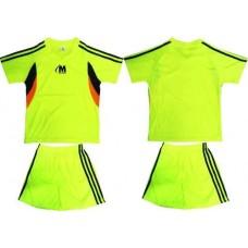 Футболен, волейбол екип в електриково зелено, черно и оранжево  СПОРТНИ СТОКИ
