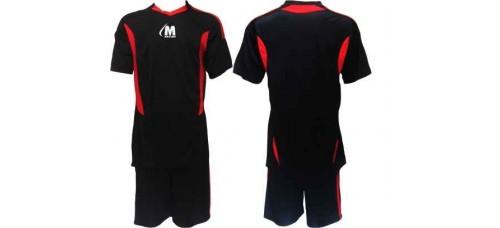 Футболен, волейболен екип фланелка с шорти в черно и червено СПОРТНИ СТОКИ