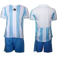 Футболен, волейболен екип, комплект в светло синьо и бяло СПОРТНИ СТОКИ
