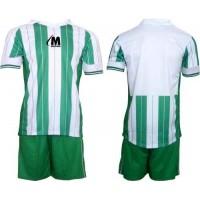 Футболен, волейболен екип фланелка и шорти в зелено и бяло СПОРТНИ СТОКИ