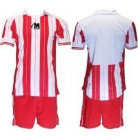Футболен, волейболен  екип, комплект в червено и бяло  СПОРТНИ СТОКИ