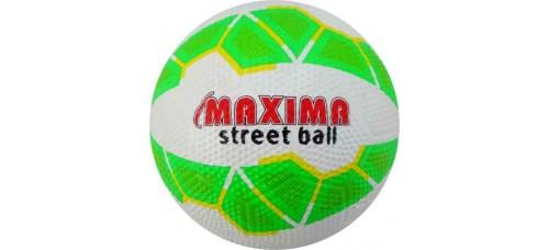футболна топка №4, гумена в бяло и зелено СПОРТНИ СТОКИ