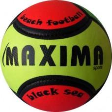 Топка за плажен футбол №5 в зелено, черно и червено СПОРТНИ СТОКИ
