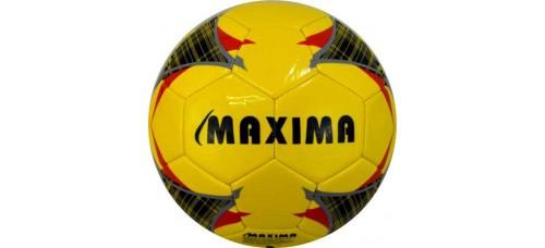 Футболна топка №5 от синтетична кожа в жълто, червено и черно СПОРТНИ СТОКИ