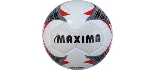 Футболна топка №5 от синтетична кожа  в бяло, червено и черно СПОРТНИ СТОКИ