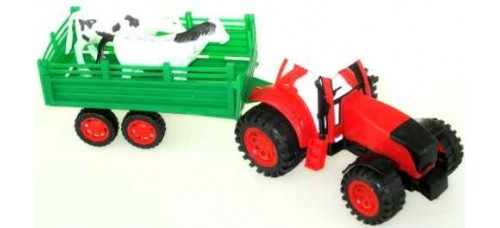 Фермерска машина-играчка, трактор с ремарке ИГРАЧКИ