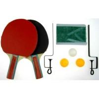 Комплект 2 броя хилки, 3 топчета, мрежа и стойка за тенис на маса СПОРТНИ СТОКИ