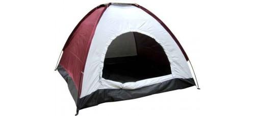 Еднослойна триместна палатка  190x190x138см